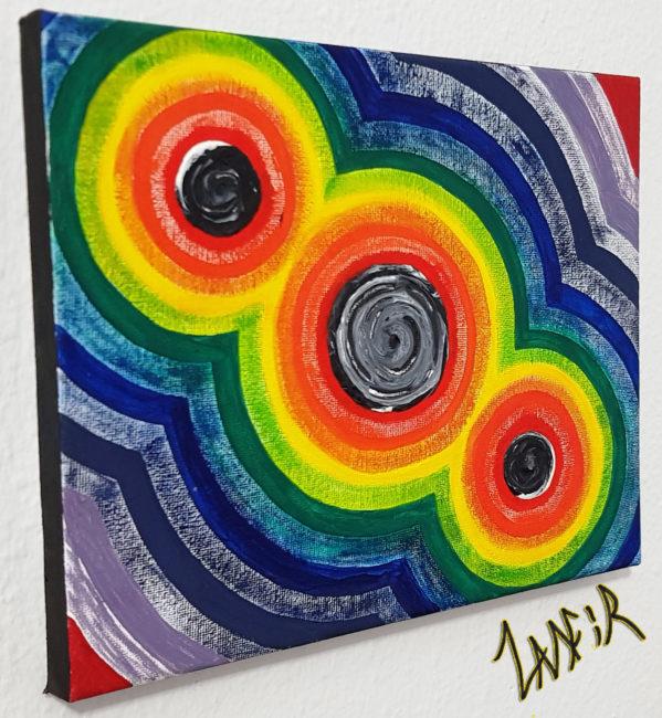 Circles Of Happiness By Zamfir, Zamfir, Art, Original Art, Original Canvas Art